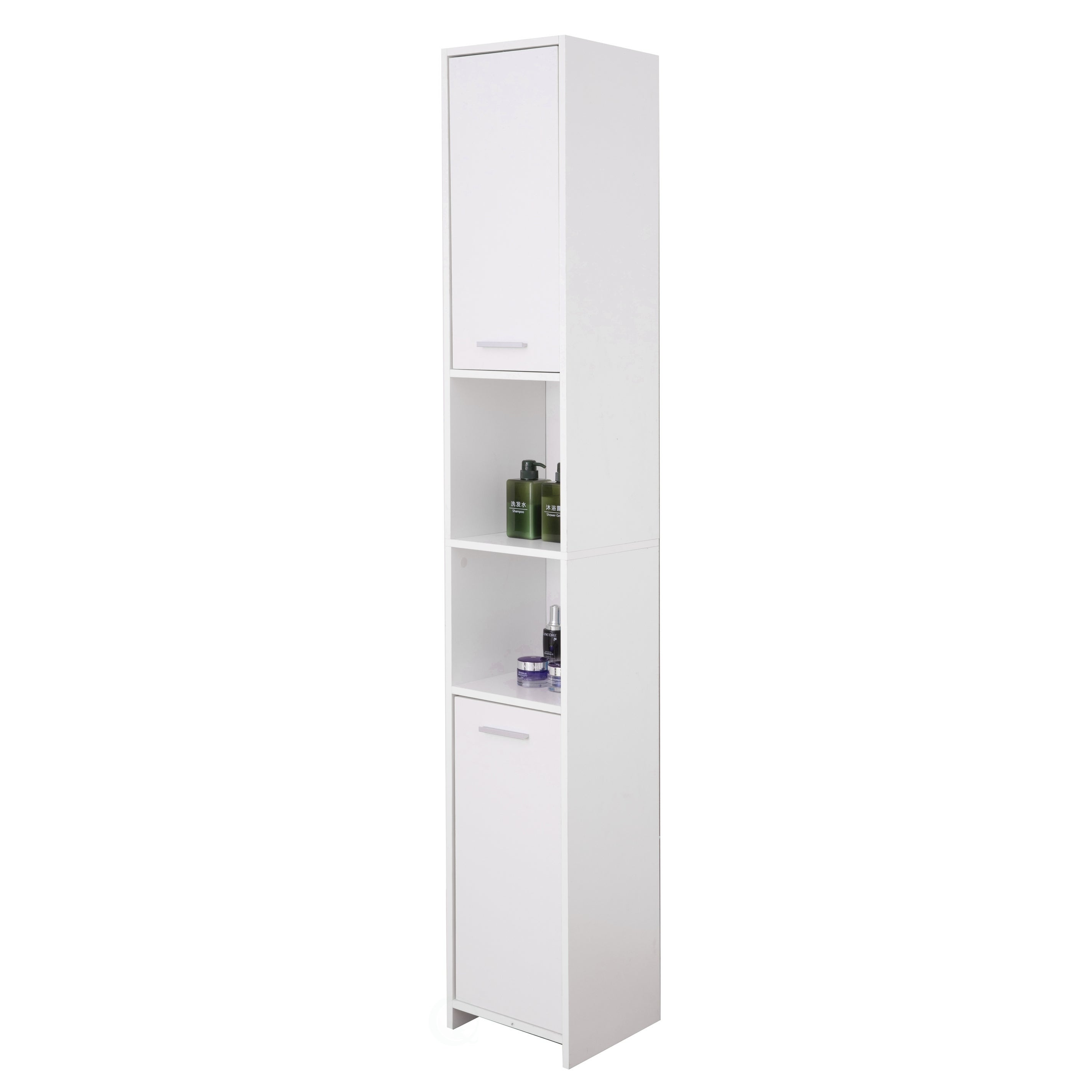 Standing Bathroom Linen Tower Storage Cabinet White On Sale Overstock 29057222