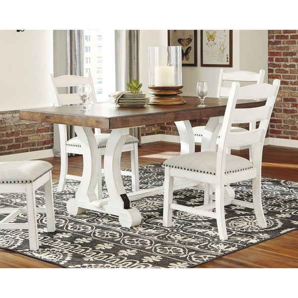 Valebeck Rectangular Dining Room Table - White/Brown. Opens flyout.