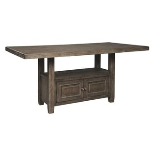 Wyndahl Rectangular Counter Table w/Storage - Brown