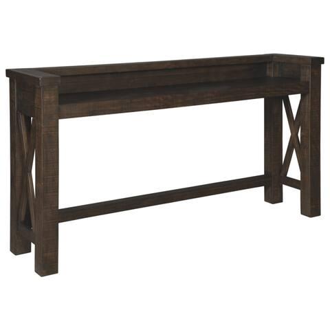 Hallishaw Bar Table - Dark Brown