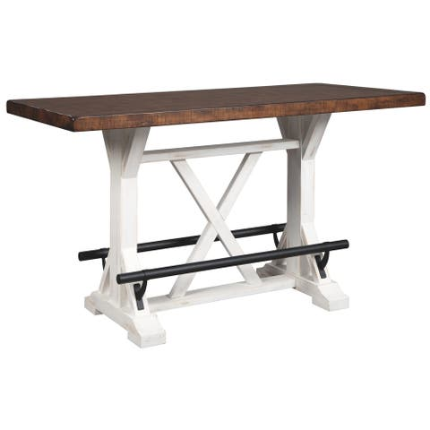 Valebeck Brown/ White Rectangular Dining Room Counter Table