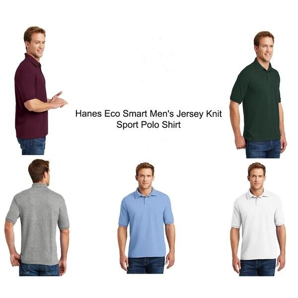 Hanes Eco Smart Mens Jersey Knit Sport Polo Shirt