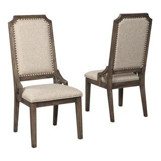 Wyndahl Dining Upholstered Side Chair - Set of 2 - Brown