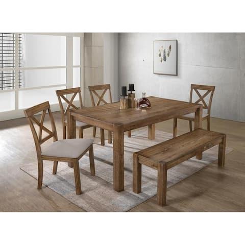 Best Master Furniture 6 Pieces Driftwood Dining Set