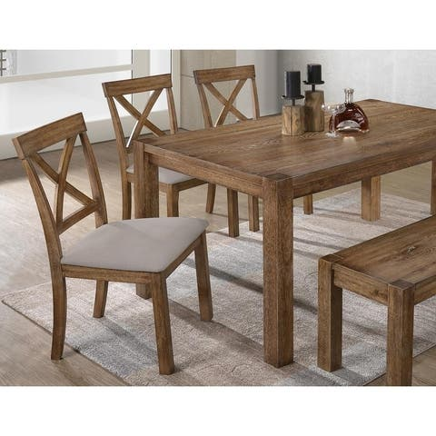 Best Master Furniture Driftwood 2 Pieces Dining Side Chairs