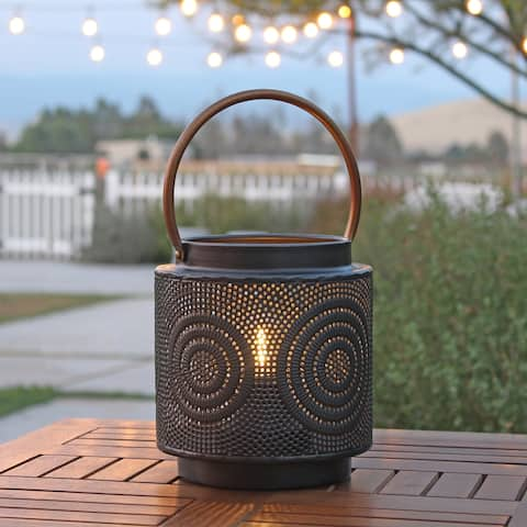 "Julissa Outdoor Lantern with Bulb - 7.5""H x 7""W x 7""D"