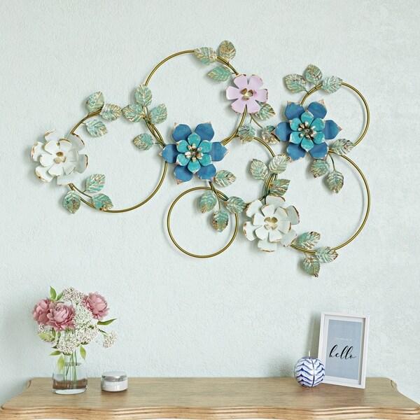 Kamea Metal Flower Wall Decor - N/A