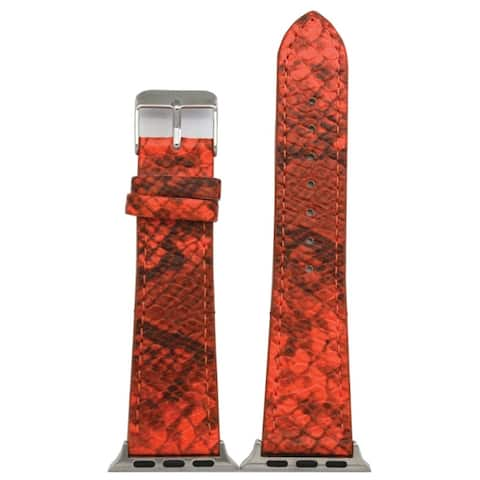 Olivia Pratt Faux Snake Print Leather Band with Buckle Closure