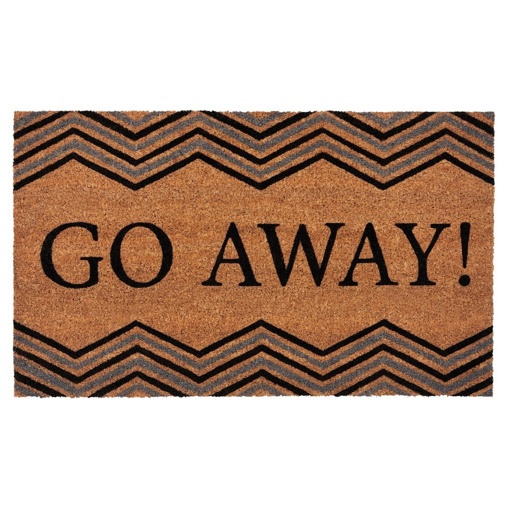 Achim Welcome Printed Coir Doormat 18x30 Inches Red-Blue