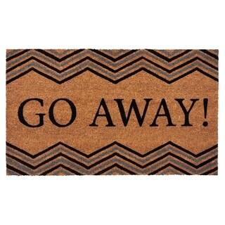 Achim Go Away Printed Coir Door Mat 18x30