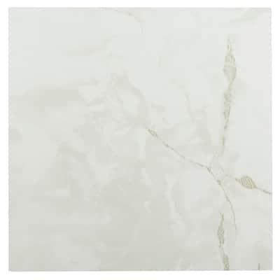 Achim Sterling White-Grey Veins 12x12 Floor Tile (20 Tiles/20 sq ft)