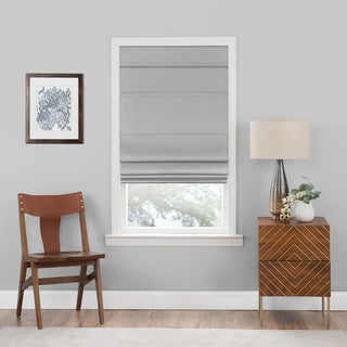Link to Porch & Den Blanton Grey Cordless Blackout Roman Window Shade Similar Items in Window Treatments