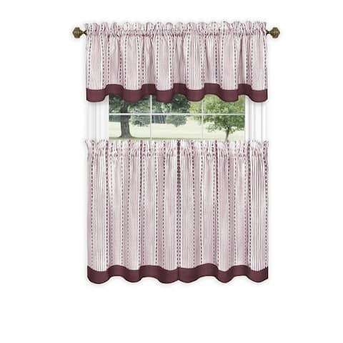 Porch & Den Lynnridge Window Curtain Tier Pair and Valance Set