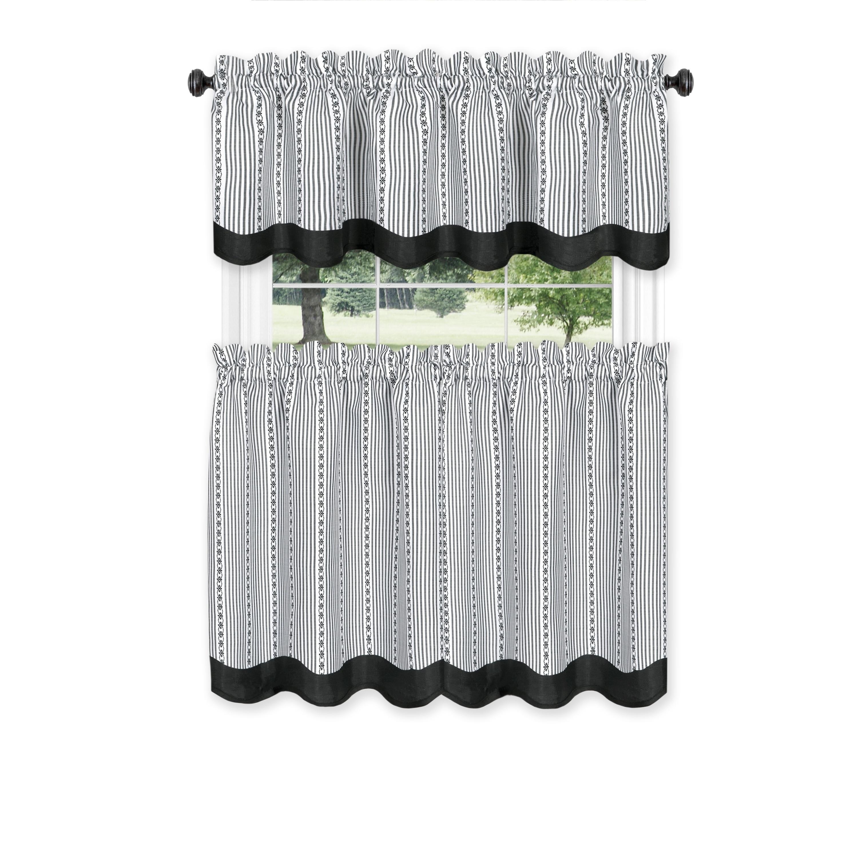 French Country Decor 31 X 14 Curtain Valance Window Treatment Burlap And Black Buffalo Check Farmhouse
