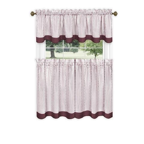 Achim Westport Window Curtain Tier Pair and Valance Set