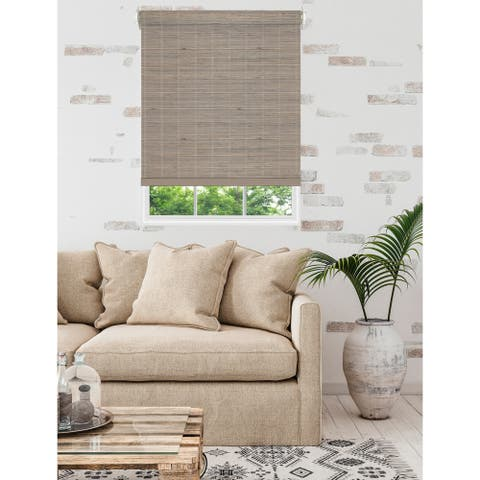 Porch & Den Lonerock Cordless Bamboo Roller Shades