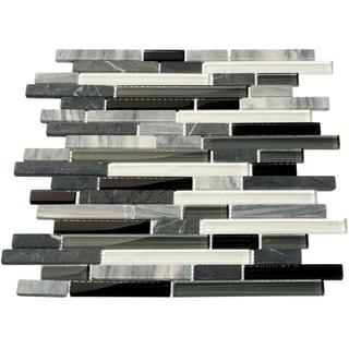 Giorbello Glacier Mountain Glass Tile- Piano (Case of 11 Sheets)(10.78 sq. ft.)