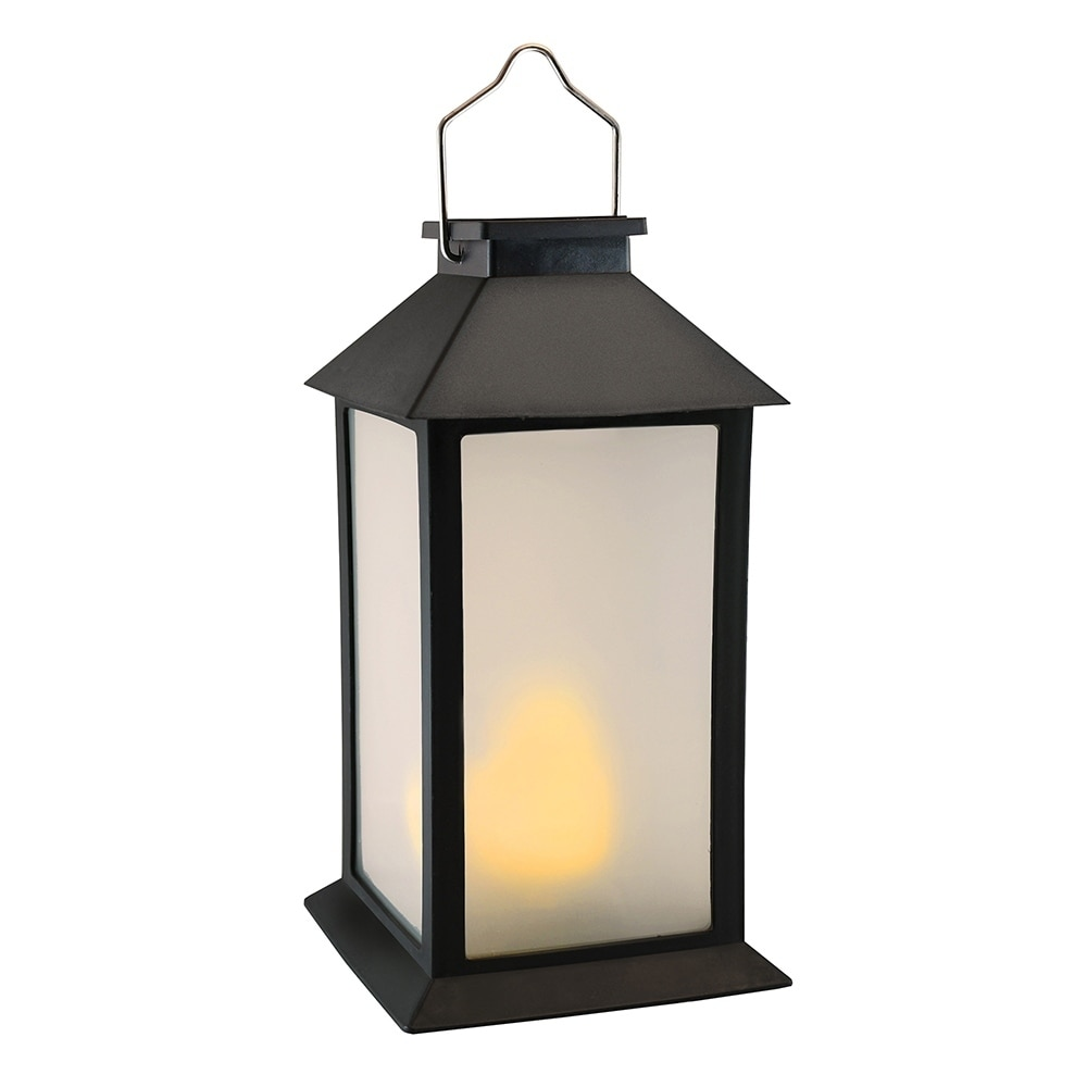 Candle Flame Lantern Solar LED Light Waterproof Outdoor Home Hanging Lamp