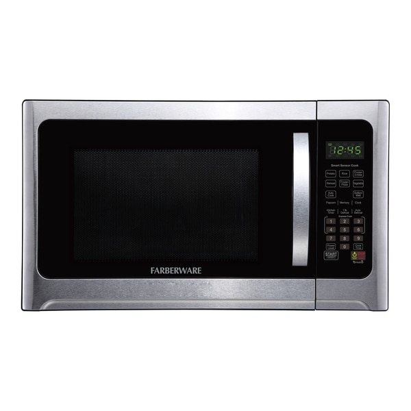 Farberware Professional FMO12AHTBKE 1.2 Cu. Ft. 1100-Watt Microwave Oven with Sensor Cooking, Stainless Steel/Black Body Wrap