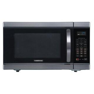 Farberware Black FMO11AHTBSJ 1.1 Cu. Ft. 1100-Watt Microwave Oven with Smart Sensor and Inverter, Black Stainless Steel