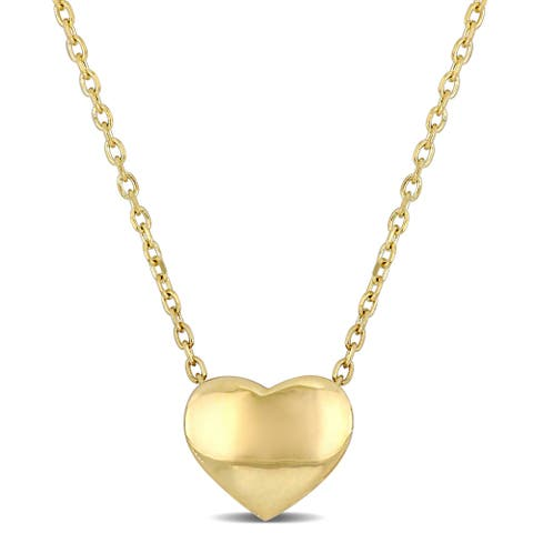 Miadora 10k Yellow Gold Heart Necklace