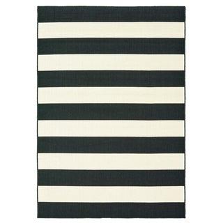 Shop Windsor Home Breton Stripe Area Rug Black Amp White 5