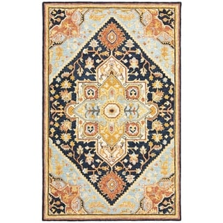 Ava Hand-tufted Wool Loop-pile Bohemian Tribal Area Rug