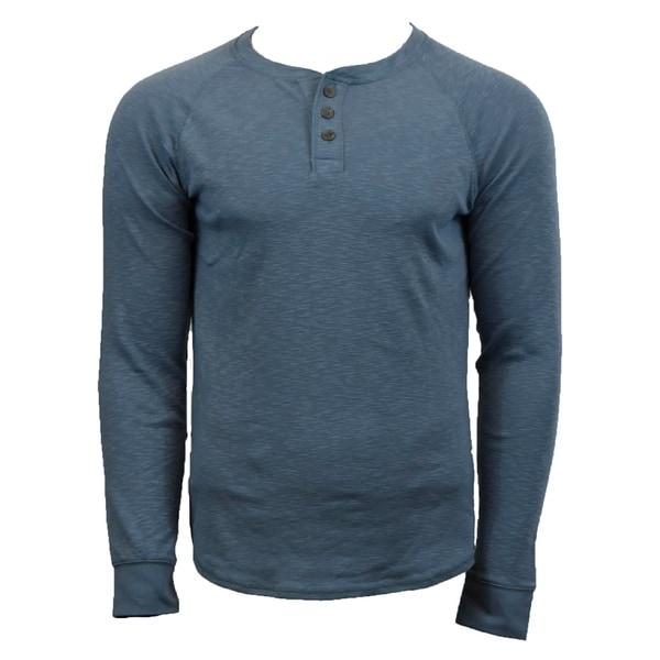 Victory Outfitters Mens Long Sleeve Slub Henley Shirt