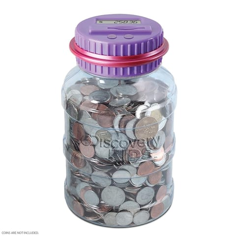 Coin Counting Jar - PurplePink