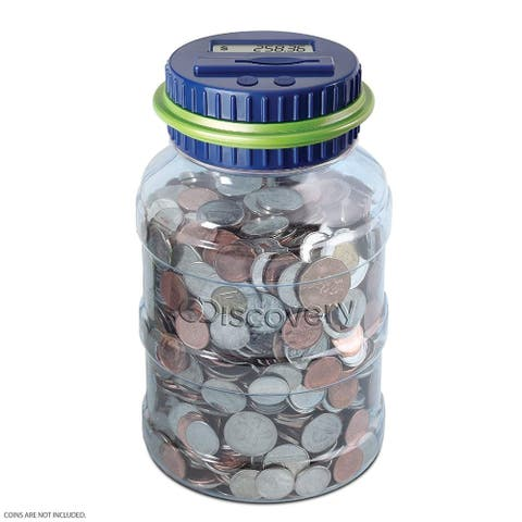 Coin Counting Jar - DrkBlueGreen