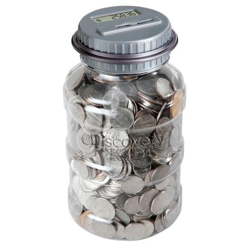 Coin Counting Jar - GreySilver