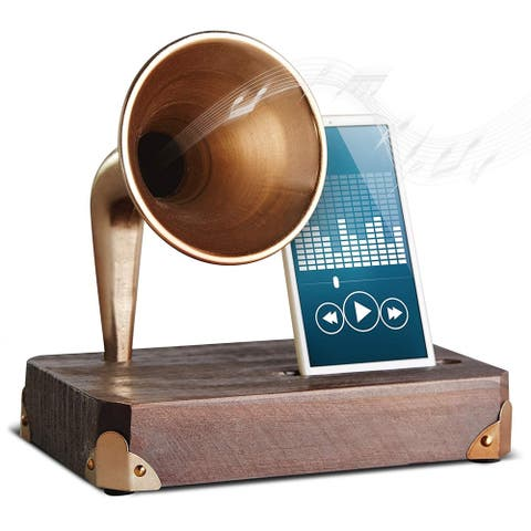 Smartphone Dock Wood with Amplifier - WoodCopper