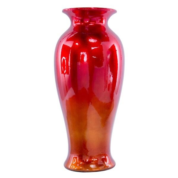 "Judith 21"" Ombre Lacquered Ceramic Vase"