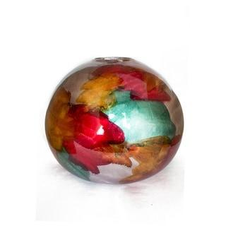 Gem Foiled Lacquered Ceramic Spherical Table Vase On Sale Overstock 29058855