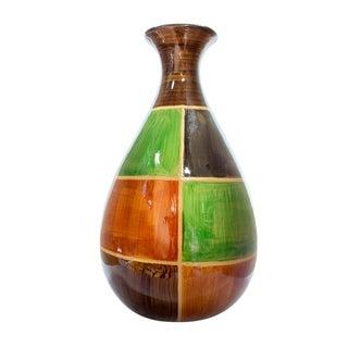 Cubist Lacquered Ceramic Modern Vase