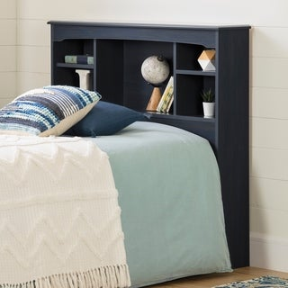 South Shore Navali Bookcase Headboard, Blueberry
