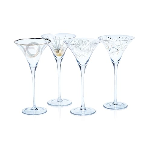 Festivity 4-Piece Martini Glass Set