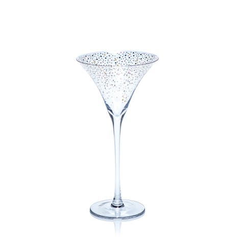 Saturnalia 4-Piece Martini Glass Set
