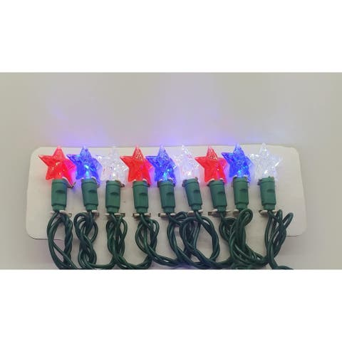Star Red, Pure White and Blue LED Light String