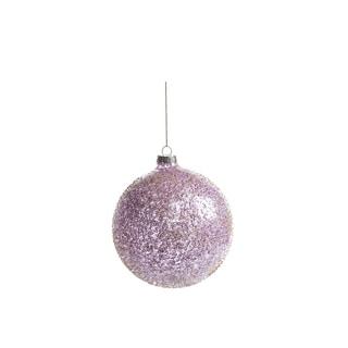 Beaded Holiday Ball Ornaments, Set of 4