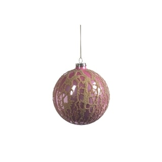Abstract Beaded Hanging Ball Ornaments, Set of 4
