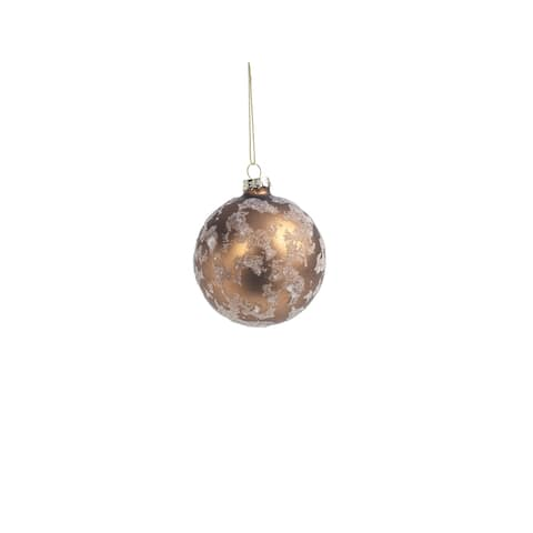 Abstract Beaded Hanging Copper Ball Ornaments, Set of 6