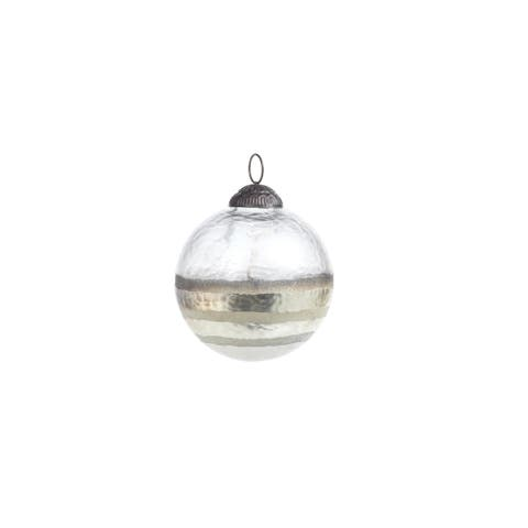 Smoked Hanging Ball Ornaments, Set of 4