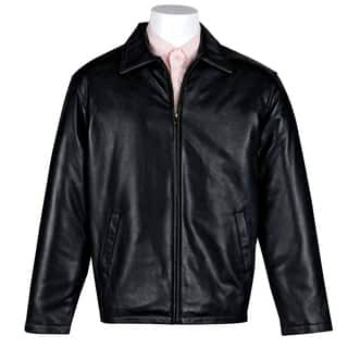 Victory Outfitters Men's Genuine Leather Open Bottom Jacket