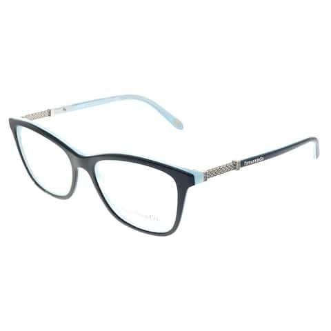 Tiffany & Co. TF 2116B 8193 53mm Womens Black on Tiffany Blue Frame Eyeglasses 53mm