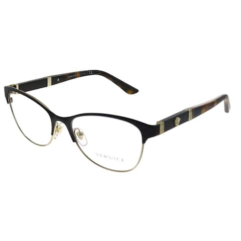 Versace VE 1233Q 1344 53mm Womens Brown Pale Gold Frame Eyeglasses 53mm