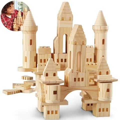 Toy Wood Castle Blocks 75pcs