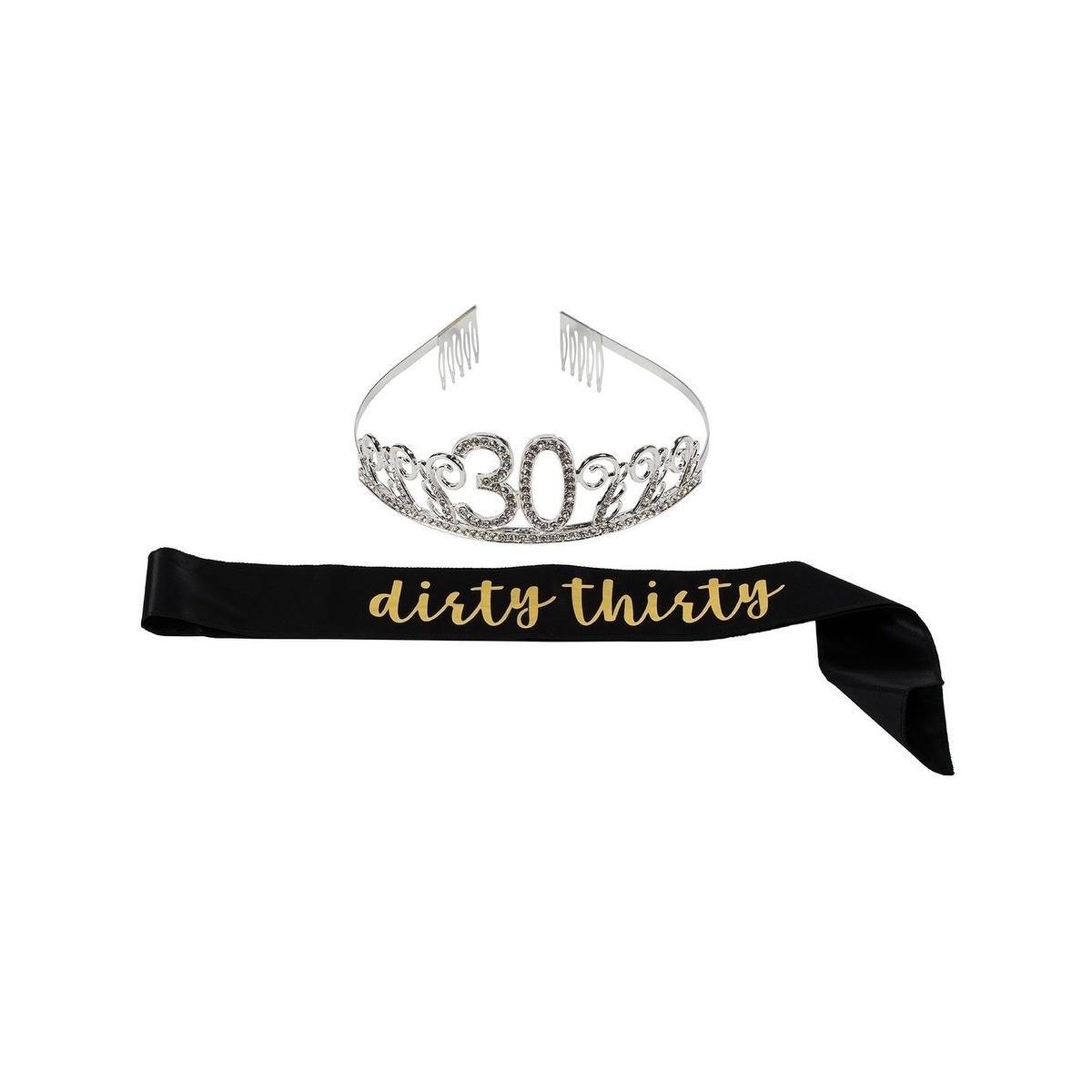 18th Birthday Rhinestone Queen Tiara with It's My 18th Birthday Sash Decoration