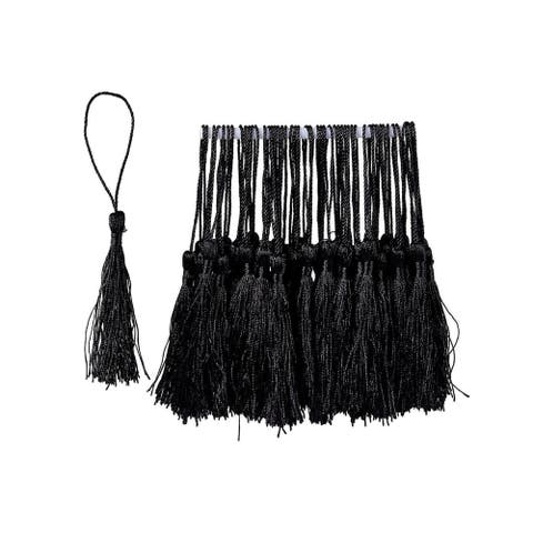 150-Pack Black Silky Floss Tassel Pendant for DIY Craft Jewelry Home Decoration
