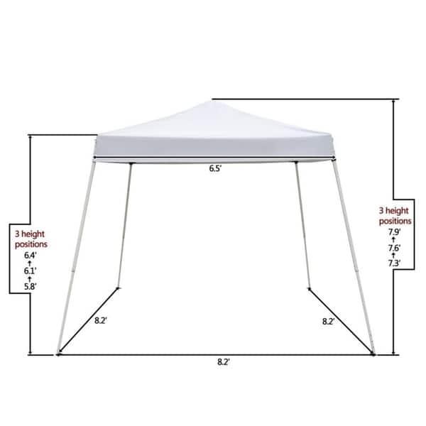 Gazebo 2 5 X 3.2 5 X 2 5m Camping Beach Gazebo Party Folding Canopy Tent 2 Colors Overstock 29059543